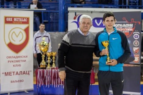 Vojislav Andrić i najmlađi učesnik turnira Aleksa Žarković (Foto: Đorđe Đoković)