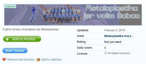 Metaloplastika moj klub themes