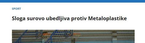 Sloga ubedljiva protiv MP, 18.2.2017.